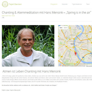 Chanting mit Hans Mensink und Michael Drees- Tajet Garden, Köln
